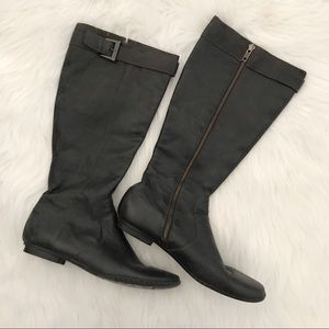 BORN Tall Black Leather Boots SIZE 8